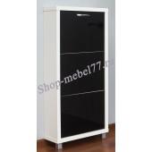 Шкаф обувной Люкс черное стекло - 3 секции