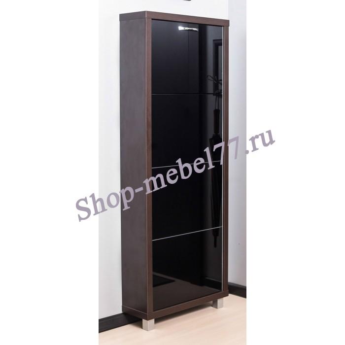Шкаф обувной Люкс черное стекло - 4 секции