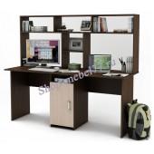 Письменный стол Лайт-10 с надстройкой