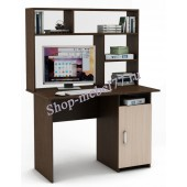 Письменный стол Лайт-3 с надстройкой