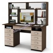 Письменный стол Лайт-9Я с надстройкой