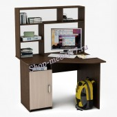 Угловой стол с надстройкой Лайт-16