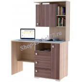 Стол письменный М-КС3 с надстройкой и ящиками