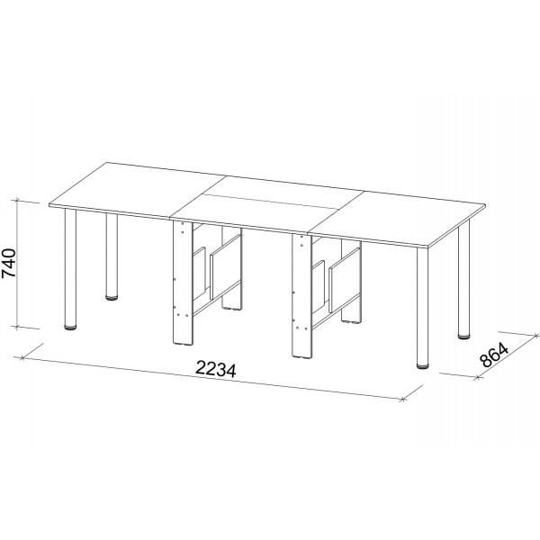"""Стол-книжка СТК-10 - новый длинный стол от фабрики """"Джаз-мебель"""""""